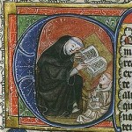 St-Benoît expliquant sa règle ( XIVe siècle) CC Wikipedia